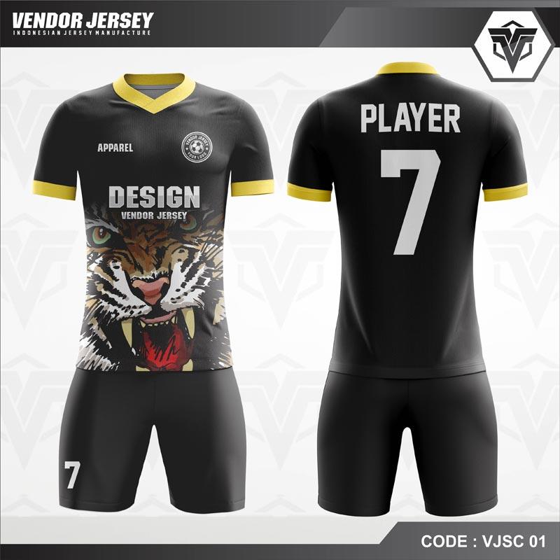 Desain Baju Futsal Code VJSC 01 Harimau Mengaung