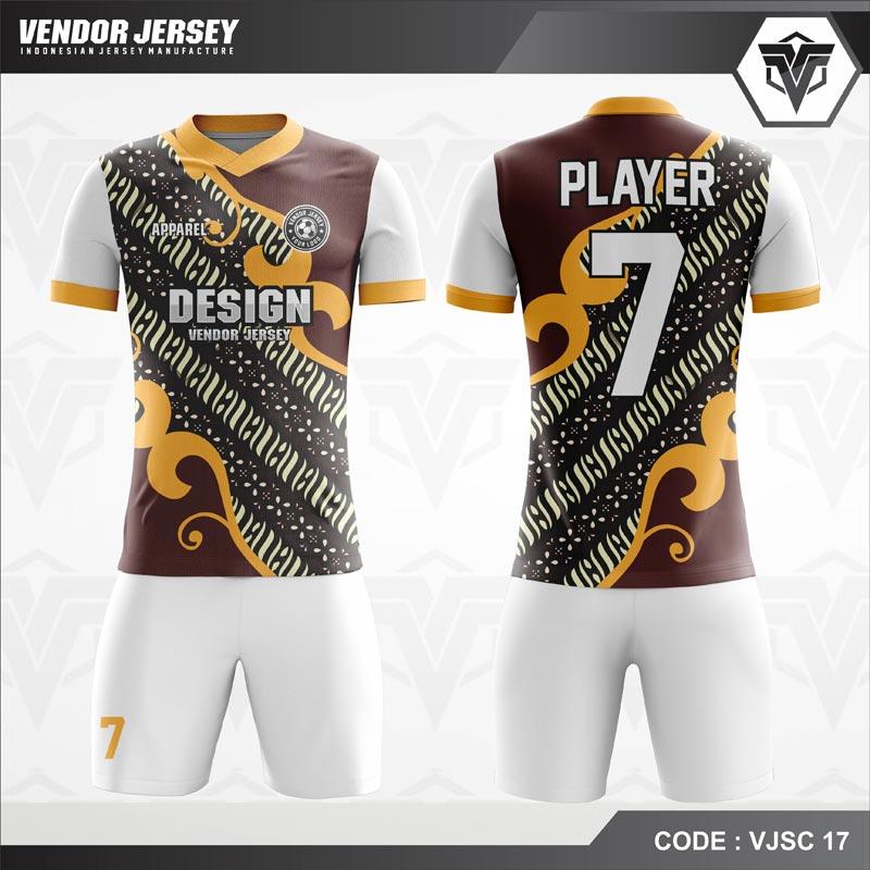 Desain Baju Futsal Code VJSC 17 Batik Lurik