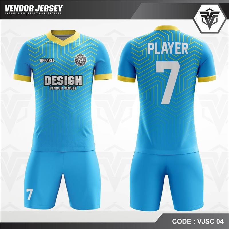 Desain Jersey Futsal Code VJSC 04 Biru Muda
