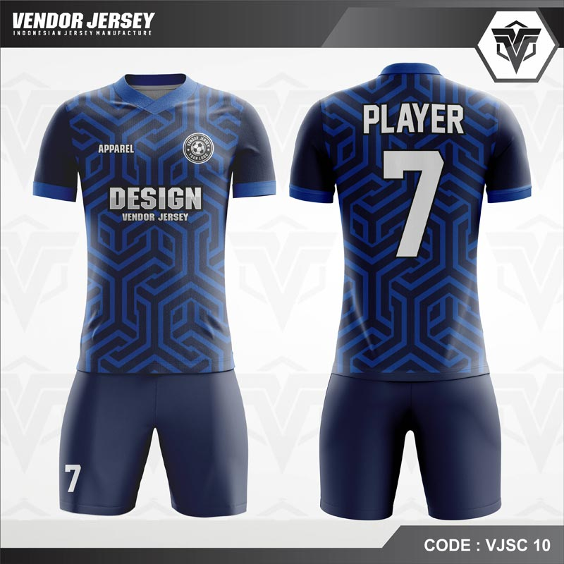 Desain Jersey Futsal Code VJSC 10 Dongker