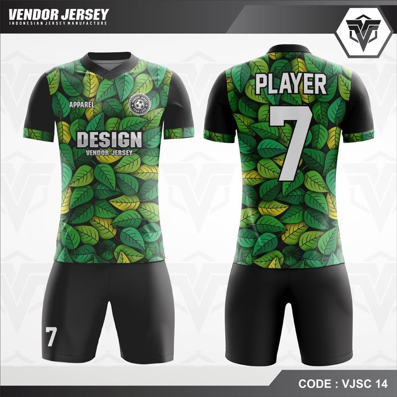 Desain Jersey Futsal Code VJSC 14 Hijau Daun