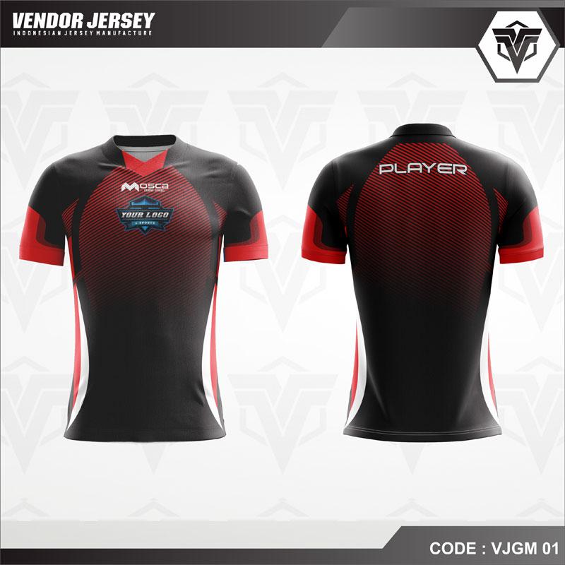 Desain Jersey Gaming Code VJGM 01 Gradasi Warna