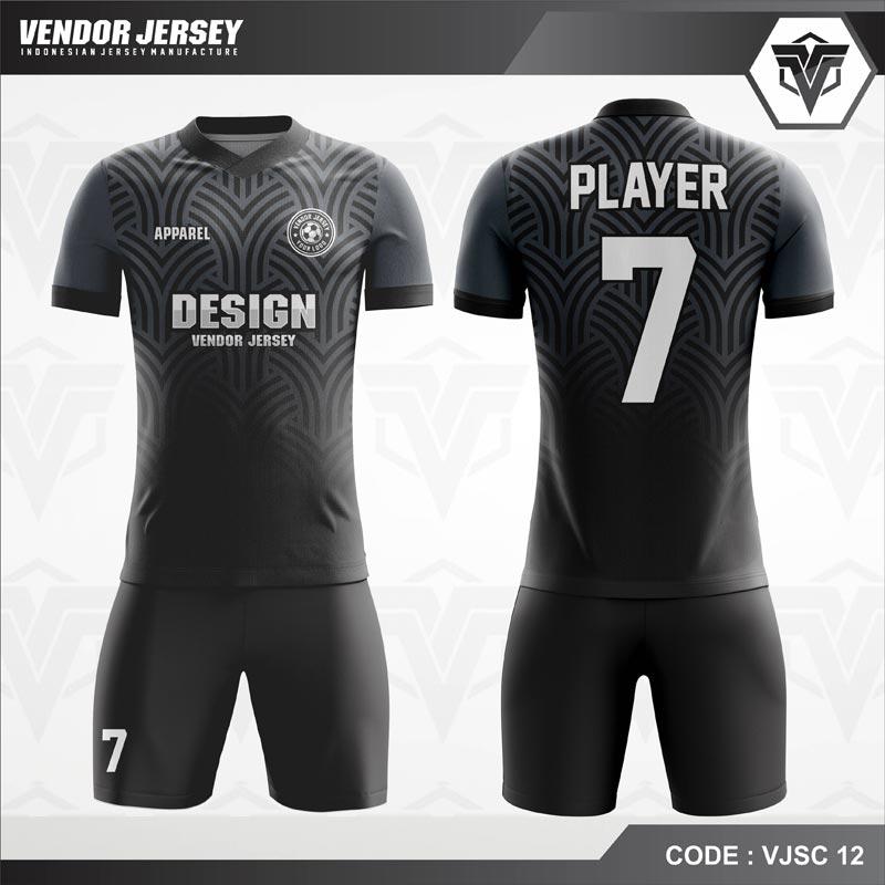 Desain Kaos Futsal Code VJSC 12 Abu Grey