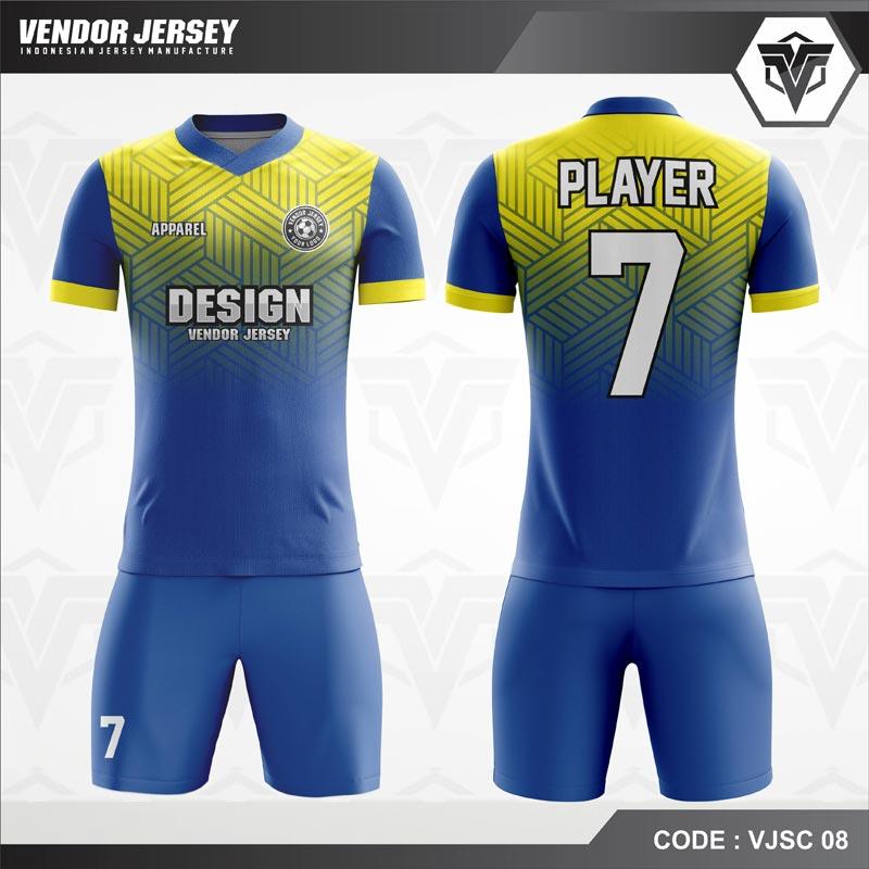 Desain Kostum Futsal Code VJSC 08 Gradasi Kuning Gradasi