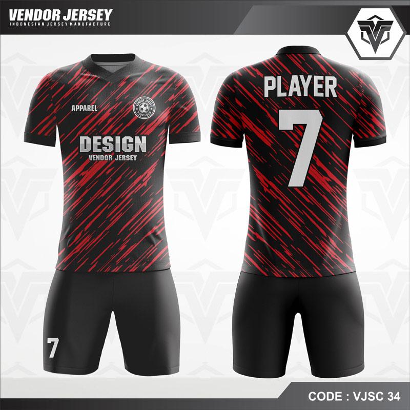 Jersey Futsal Hital Strip Merah Abu VJSC 34