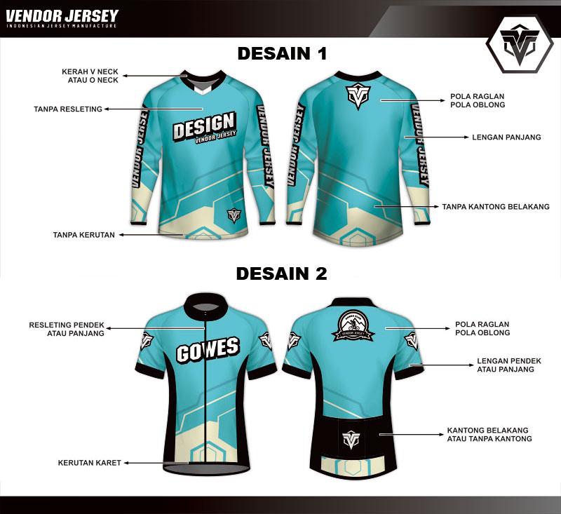 pola desain jersey sepeda
